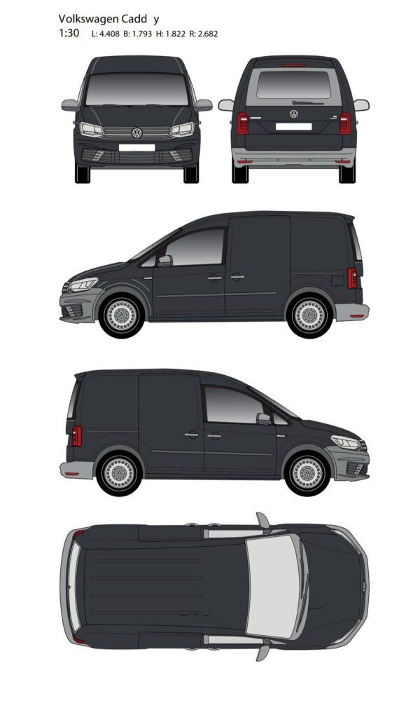 Volkswagen caddy t250 2014 blueprint/Outline Download