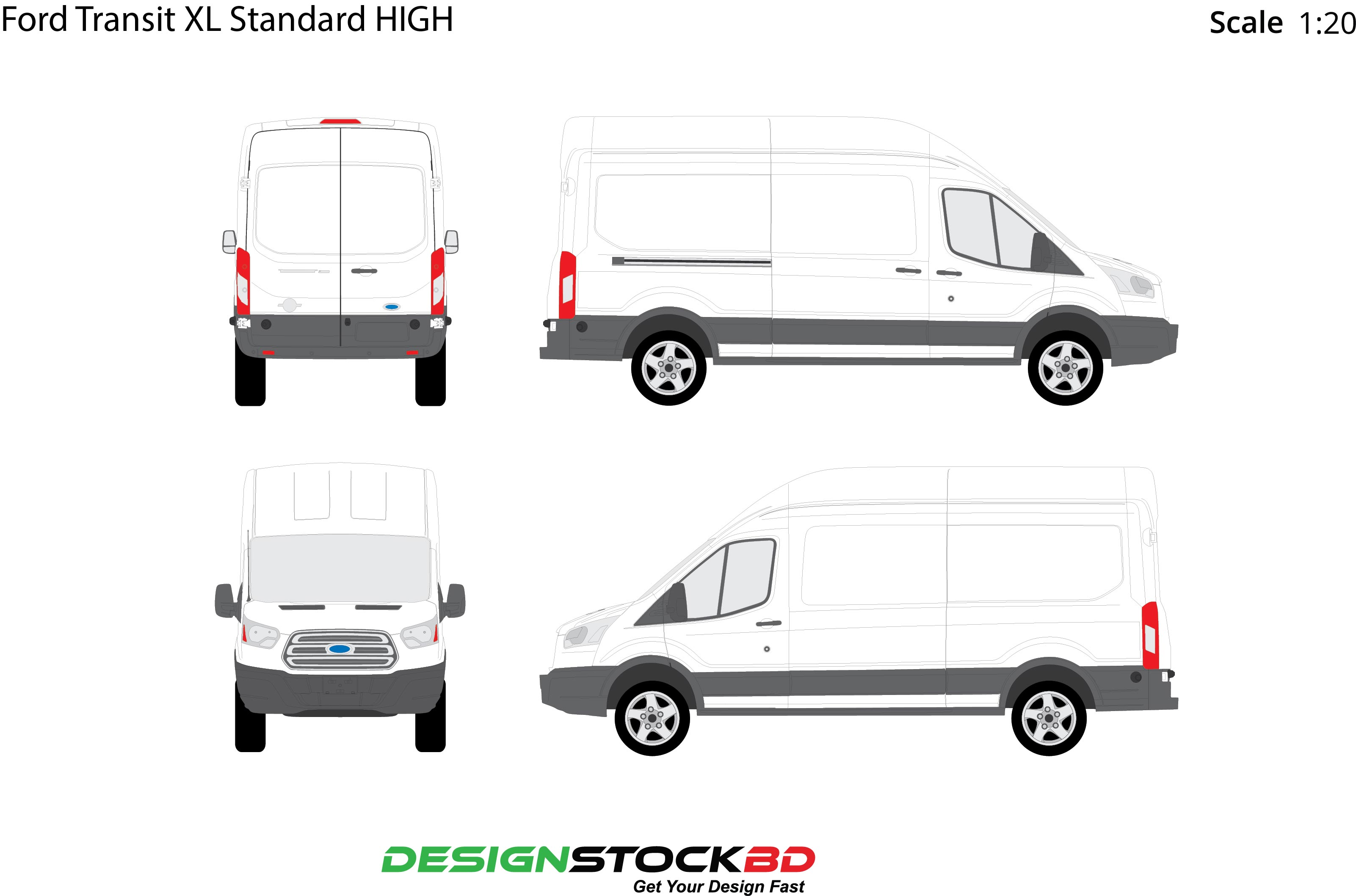 photo relating to Printable in Transit Sign for Car referred to as Ford Transit XL Traditional Significant Car Blueprint/Determine/Template Obtain