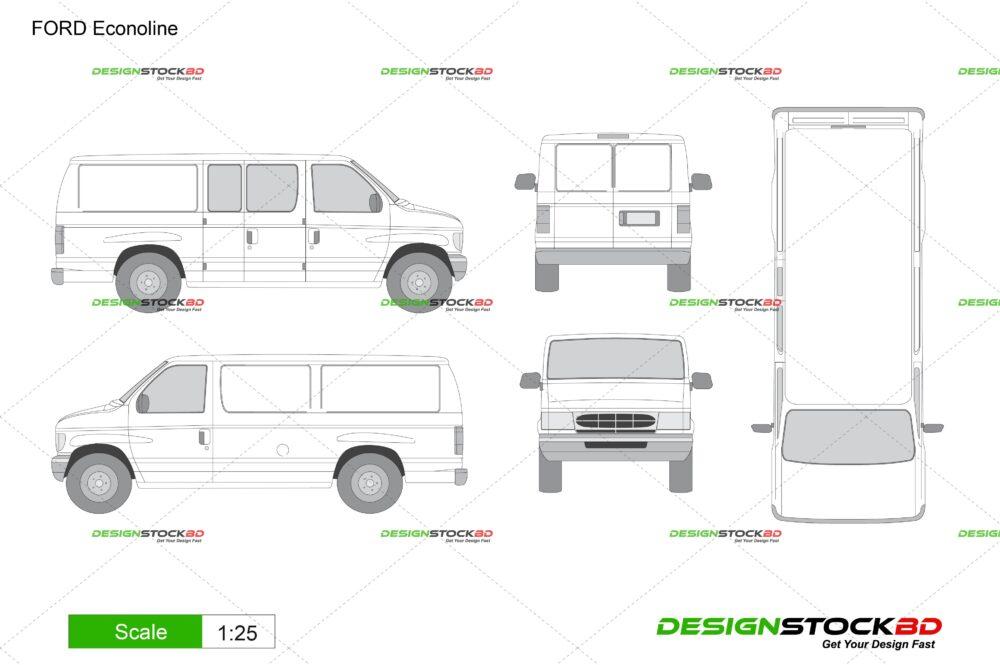 ford econoline van template outline blueprint download designstockbd com ford econoline van template outline blueprint download